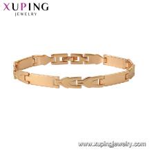 75129 Xuping moda pulseira mão de ouro corrente de ouro moda pulseira de design charme para unisex