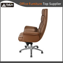 Chaise de bureau en cuir synthétique avec coussin moelleux au design moderne