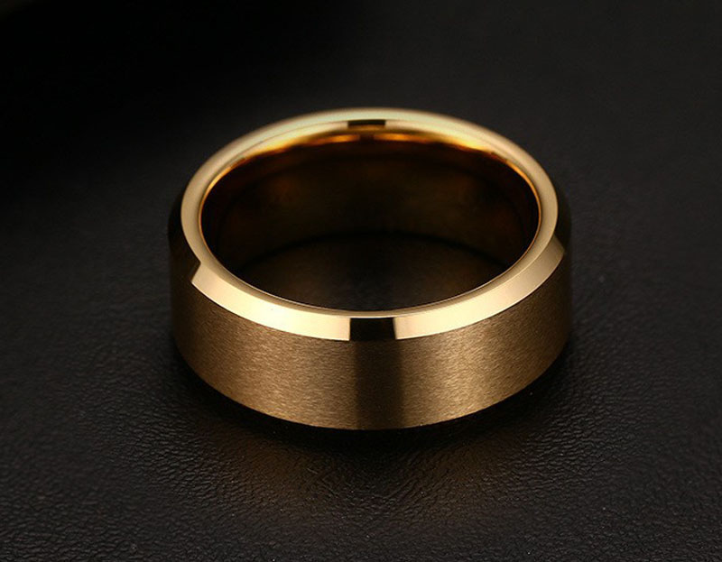 tungsten gold wedding bands