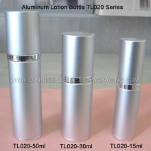Botella de aluminio de plata loción