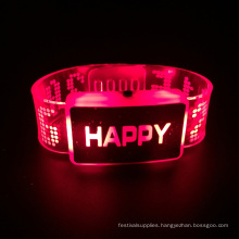 2016 Valentine Day Happy Led Bracelet