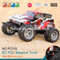 Promational 4CH 1:10 big wheels 4WD off road rc plastic toy truck for sale