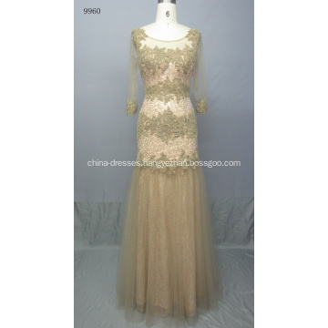 Elegant Long Sleeve Bridal Gown Women Dress