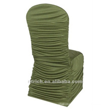 universal chair cover factory,CTS784,pleated style,200GSM best lycra fabric