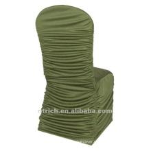 fábrica de capa de cadeira universal, CTS784, estilo plissado, tecido de lycra melhor 200GSM