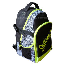 Zebra Polyester Sports Backpack with Mesh Side Pocket