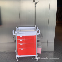 Tianao Hospital Red Convenient ABS Emergency Trolley