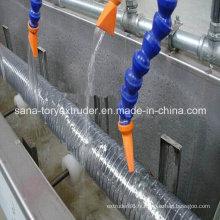 Ligne de production renforcée par fil d'acier de PVC / fil d'acier de PVC de 50-75mm / extrusion