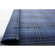 Check Blue Wool Fabric for Suit