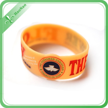 Promotion Gift Silicone Rubber Wristband, Embossed Logo