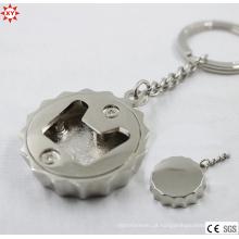 Liga de zinco prata caps abridor keychain (xymxl112401)