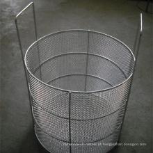 Cestas do armazenamento da cesta da fritada de cozimento / cestos do armazenamento da rede de arame do metal