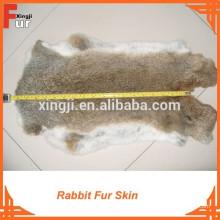 Высокое качество натуральный коричневый кролик заяц мех кожа