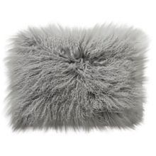 Mongolian Lamb Cushion Cover with Hidden Zipper
