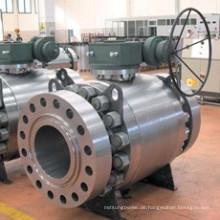 China Factory Klasse 300 Guss Stahl Zapfen Flansch Kugelhahn