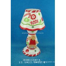 Handgemalte Keramik Teelicht Kerzenständer