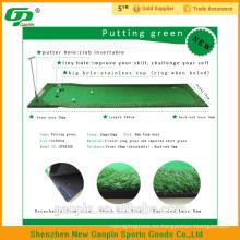 La hierba artificial barata de alta calidad utilizó el golf que ponía las esteras verdes de la hierba