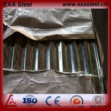 Cor revestido galvanizado ondulado chapa de aço