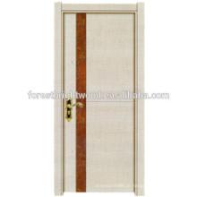 Melamina moderno acabamento Interior de madeira do banheiro porta