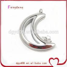 Bijoux de mode aimant verre flottant pendentif en acier inoxydable médaillon pendentif