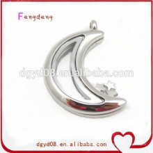 Fashion jewelry magnet glass floating locket stainless steel locket pendant