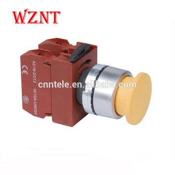 Interrupteur à bouton-poussoir étanche en métal de type tête convexe de 22 mm avec CE, CCC