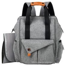 Multifunktions-Baby-Wickeltasche mit Kinderwagengurten