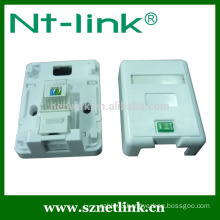 1 port cat5e cat6 rj45 modular surface box