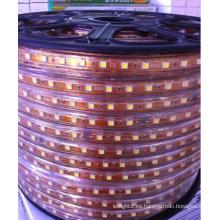 Decorativo 5050 cuttable 0.5m LED tira de luz flexible 60 / 72leds 220V W / WW / B