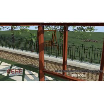 Outdoor aluminum glass veranda sunroom/glass sunroom