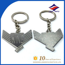 Quality wing shape elegant key chain fashion design