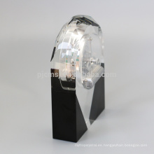 Hermosa forma de sublimación de diseño único Crystal Desktop Clock