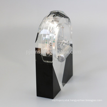 Beautiful Shape unique design sublimation Crystal Desktop Clock