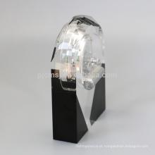 Forma bonita design exclusivo de sublimação de cristal relógio de mesa