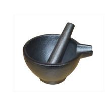 Juego de mortero y maja de hierro fundido ecológico 15X9.5CM