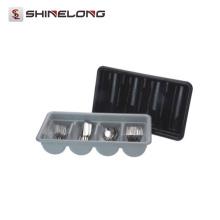 P226 Cozinha 4 compartimentos bandeja de talheres de polietileno