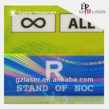 Hologram plastic business card pouch holder