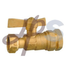 válvula de esfera de bronze do medidor de água