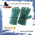 27cm cuero de vaca Split cuero de seguridad industrial guantes de trabajo de soldadura
