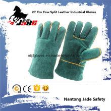 Luvas de trabalho de soldagem de segurança industrial de couro de couro de 27 centímetros