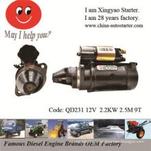12V & 24V Motor Starter for Yanmar Diesel Engine (QD231)