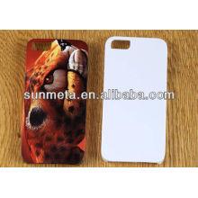 Sublimação 3d telemóvel cobre phone5 caso