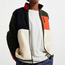 Chaquetas de forro polar de sherpa con bloques de color exclusivos para hombre personalizadas