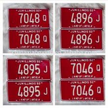 La placa de matrícula imprimible de encargo del coche / la placa del coche / decorativa refleja las placas del coche