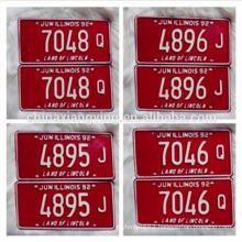 Custom Embossed Printable Car Number Plate /Car Plate/Decorative Reflect Car Plates