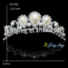New Fashion Silver Wedding Jewelry Pearl Tiaras