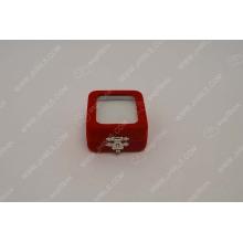 Open PVC window red jewellery box