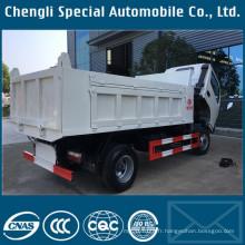 Dongfeng marque 4 X 2 Rhd 2tons pour camion à benne basculante 5tons