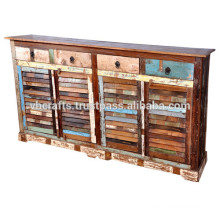 recycle wooden shutter panel sideboard
