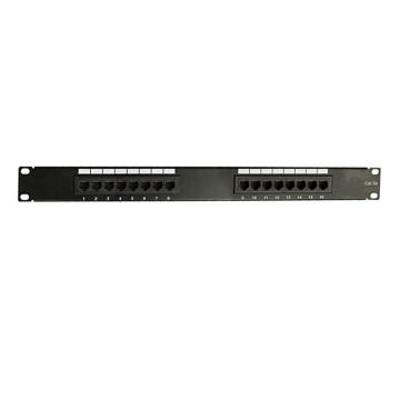 Custom alta qualidade cat5e 16 painel de patch de porta